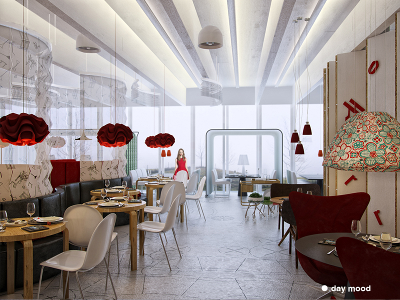 chamelion restaurant interior project zaarchitects