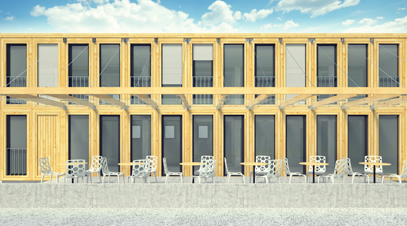 ��������� ����� container hotel zaarchitects